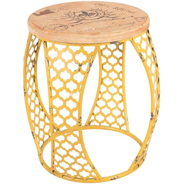 Picture of Yellow Metal Accent Table
