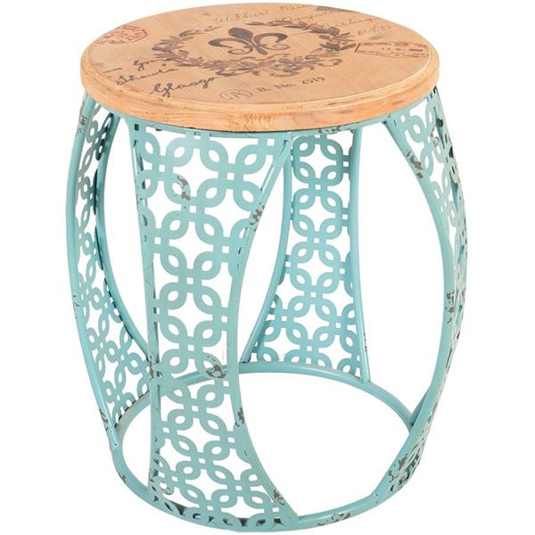 Picture of Blue Metal Accent Table