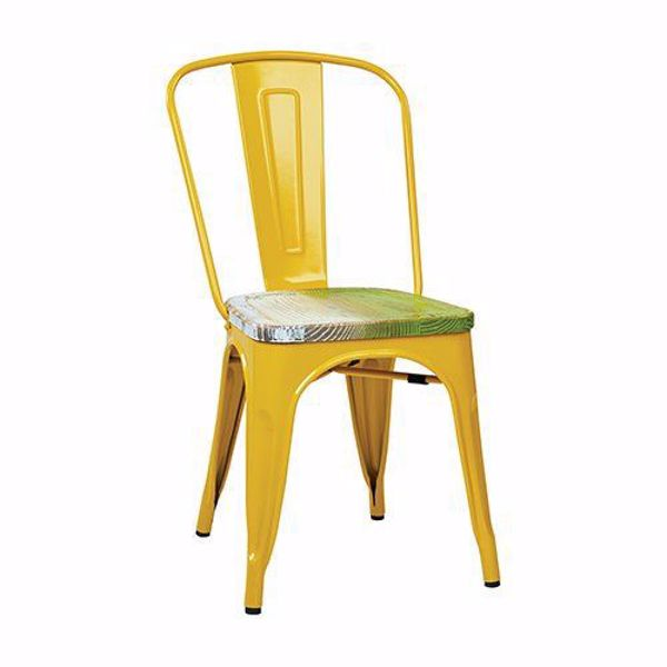 Picture of Bristow Yellow Metal Chair, 4-Pack *D