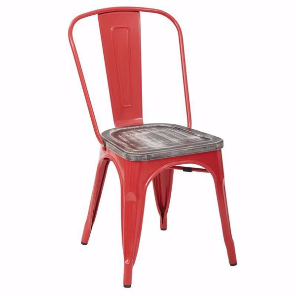Picture of Bristow Red Metal Chair, 4-Pack *D