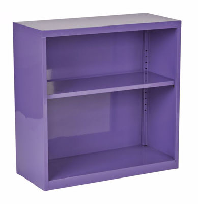 Picture of Purple Metal Bookcase *D