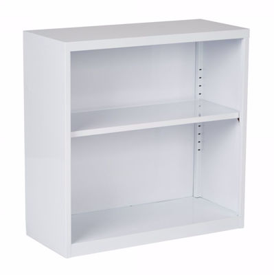 Picture of White Metal Bookcase *D