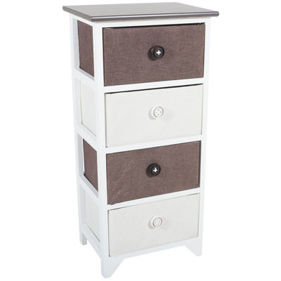 Picture of 4 Drawer Basket Storage Tower