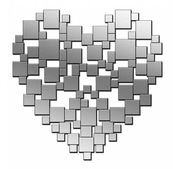 Picture of Silver Heart Mirror