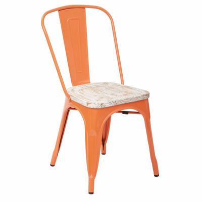 Picture of Bristow Orange Metal Chair, 2-Pack *D