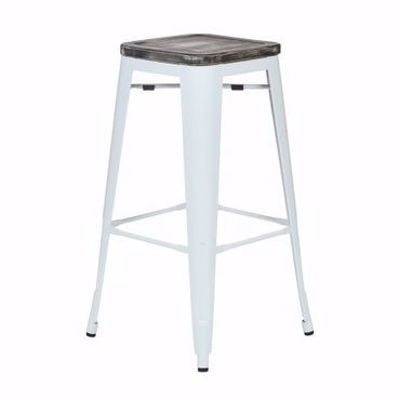 Picture of Bristow Metal Barstool Wd Seat 2 Pack *D