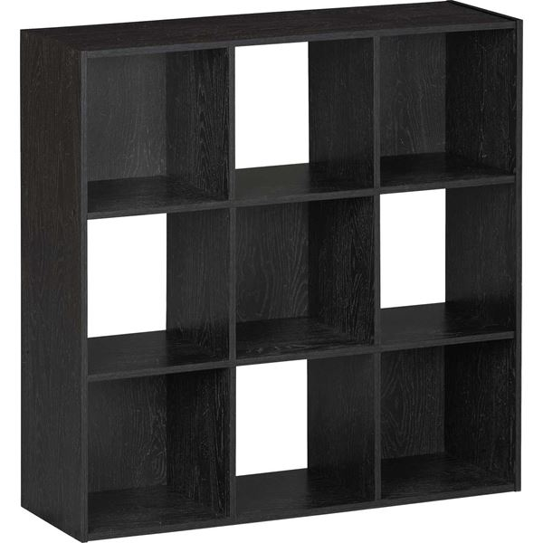 Picture of SystemBuild Black Nine Cube Storage Bookshelf