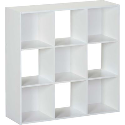 Picture of SystemBuild White Nine Cube Storage Bookshelf