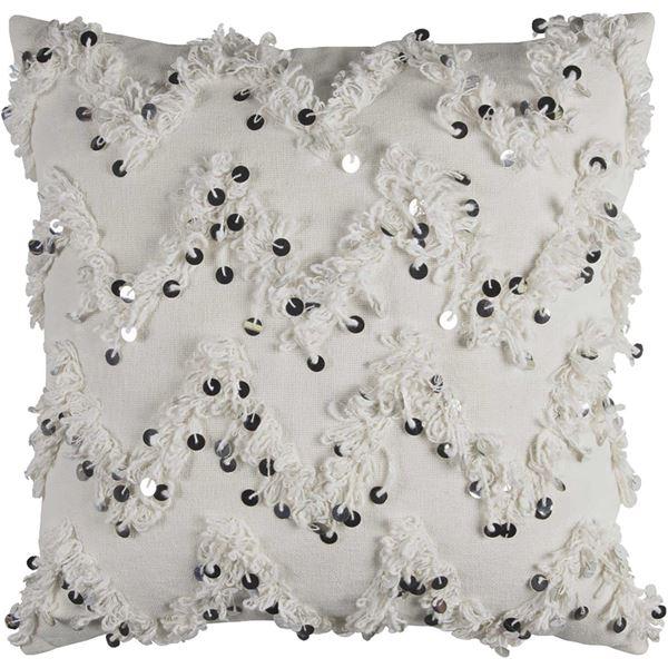 Picture of 20x20 White Chevron Sequin Pillow *P