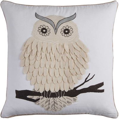 Picture of 20x20 Textured Owl Decorative Pillow *P