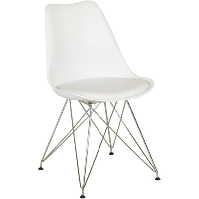 Picture of Aksel Molded Chair with Padded Seat, White