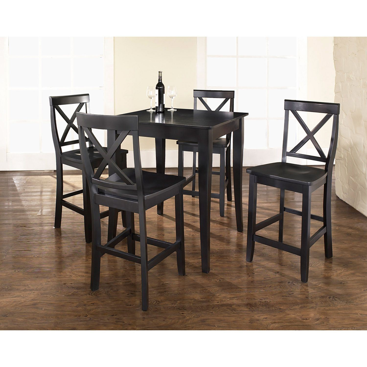 Picture of 5-Piece Pub Dining Set, Black *D