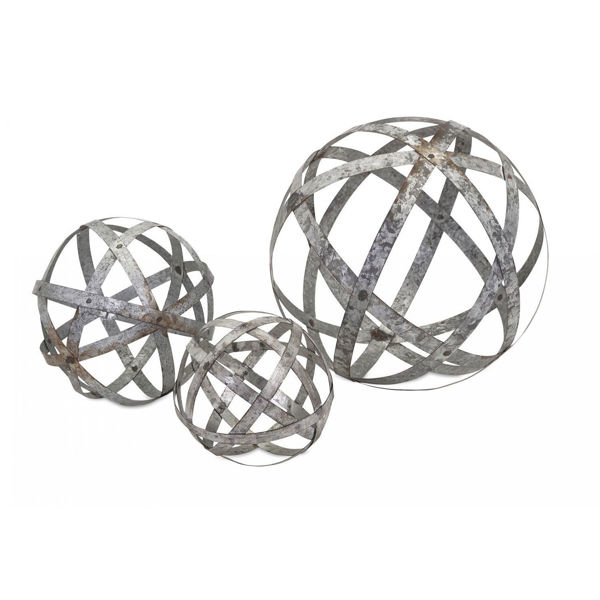 Picture of Set 3 Galvanized Spheres