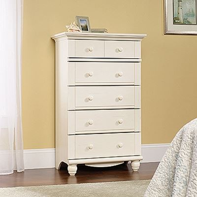 Picture of Harbor View 5-Drawer Chest Antiqued White * D