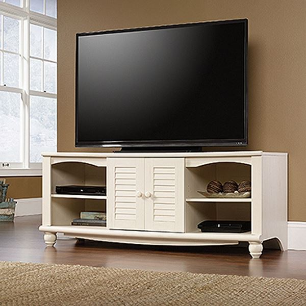 Picture of Harbor View Entertainment Credenza Antiqued White