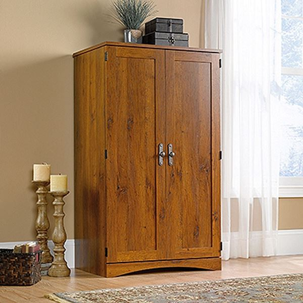 Picture of Harvest Mill Computer Armoire Abbey Oak * D