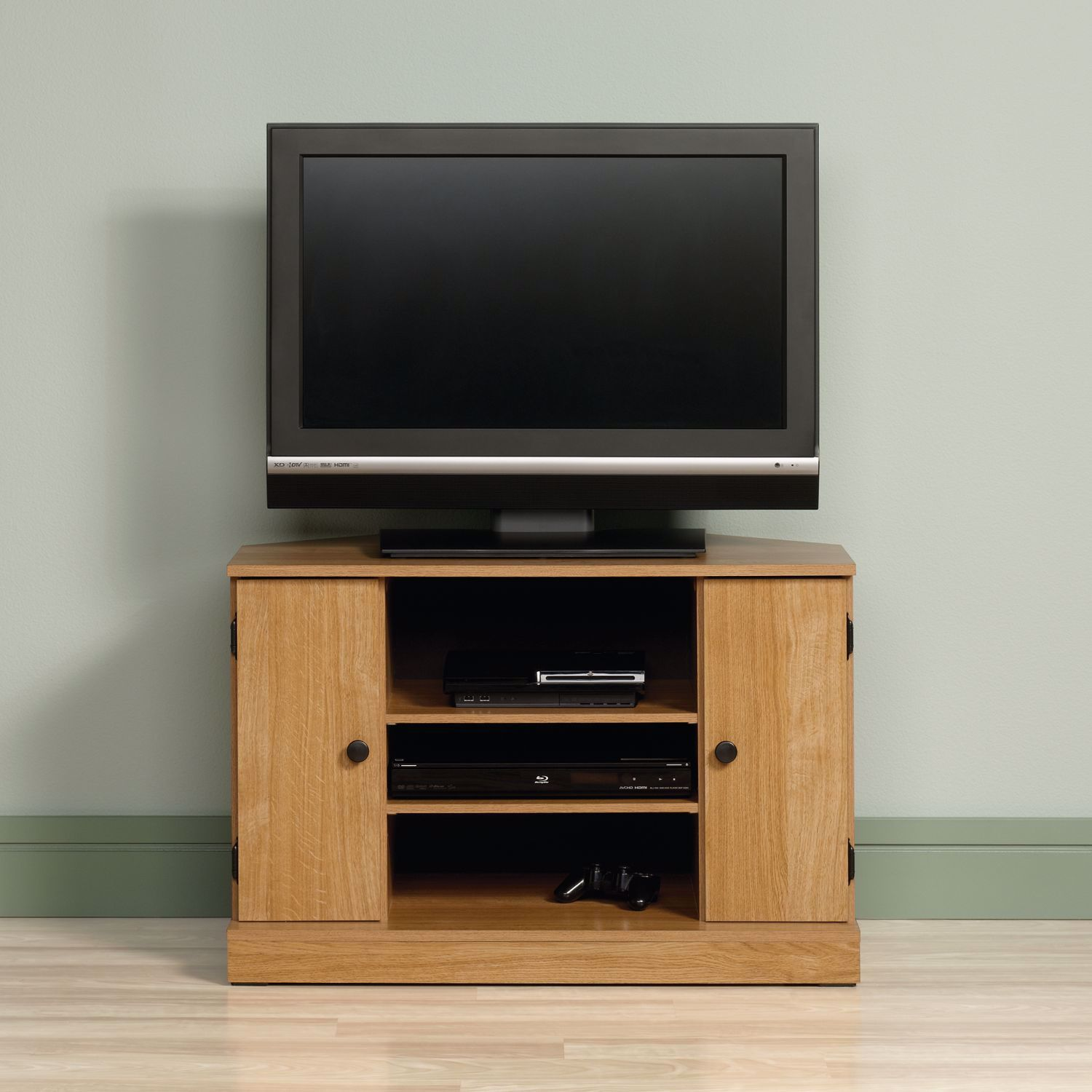 Picture of Beginnings Corner Tv Stand Highland Oak * D