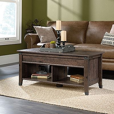 Picture of Carson Forge Lift-Top Coffee TableWashington Cherr