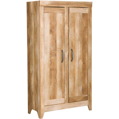 Picture of Adept  Wide Storage Cabinet Craftsman Oak