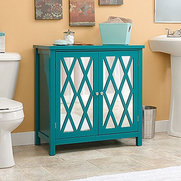 Picture of Harbor View Accent Storage Cabinet Caribbean Blue *