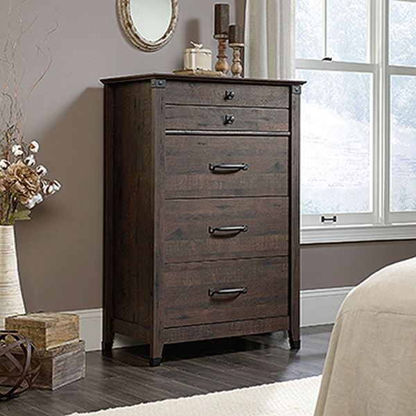 Picture of Carson Forge 4-Drawer Chest Coffee Oak * D