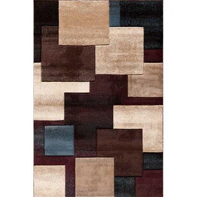 Picture of Pinnacle Strie Blocks Black/Mult 5x8 Rug