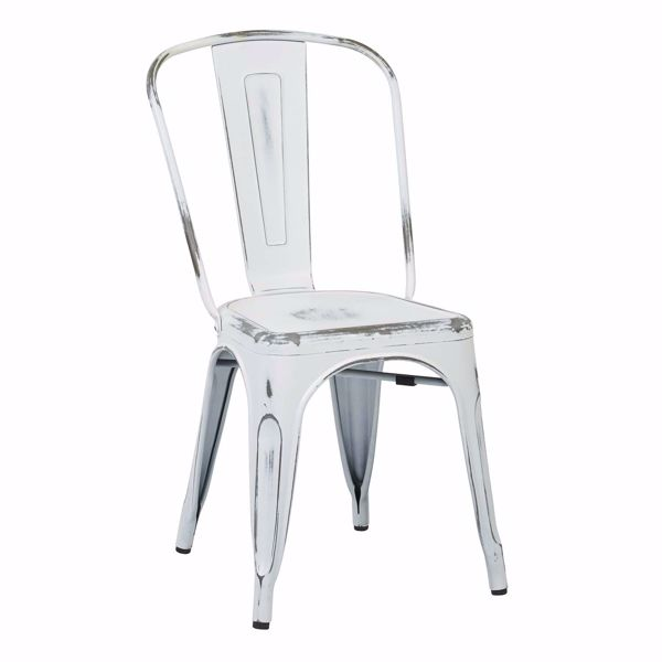 Picture of Bristow White Armless Chair, 2-Pack *D