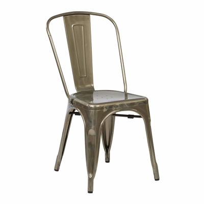 Picture of Bristow Gunmetal Armless Chair, 4-Pack *D