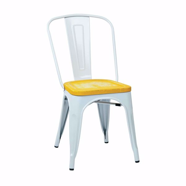 Picture of Bristow White Metal Chair, 2-Pack *D