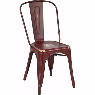 Picture of Bristow Red Armless Chair, 4-Pack *D
