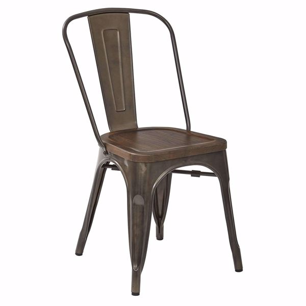 Picture of Gunmetal Indio Metal Chair 2Pack *D