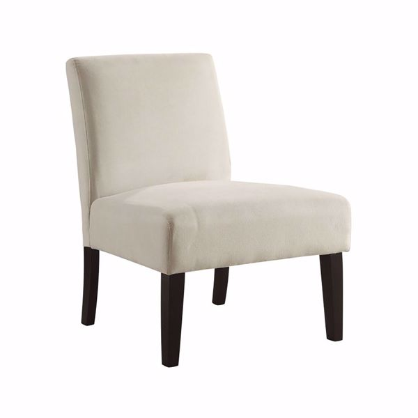 Picture of Laguna Oyster Velvet Fabric Chair *D