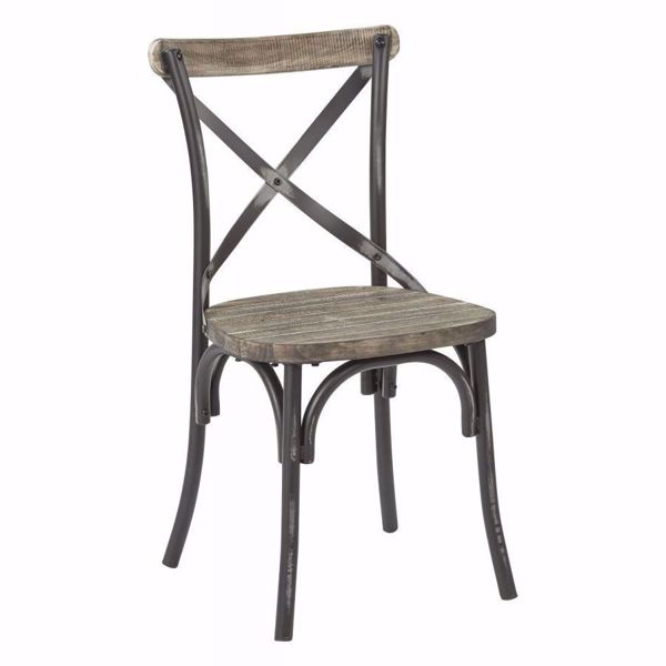 Picture of Somerset Black X-Back Metal Chair *D