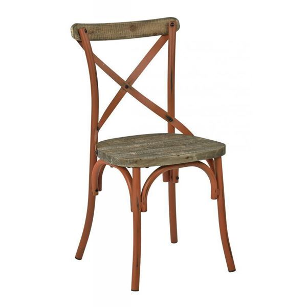 Picture of Somerset Orange X-Back Metal Chair *D