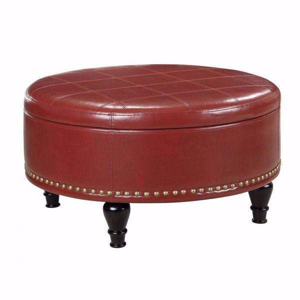 Picture of Red Augusta Storage Ottoman *D