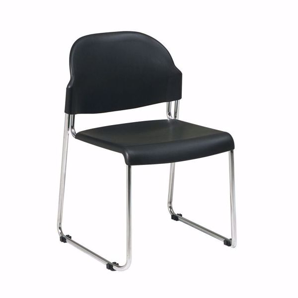 Picture of Grey Plastic Stacking Chair, 4-Pack *D