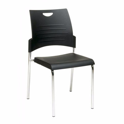 Picture of Black Straight Leg Stack Chair, 2-Pack *D