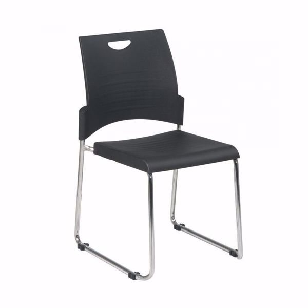 Picture of Black Sled Base Stack Chair, 2-Pack  *D