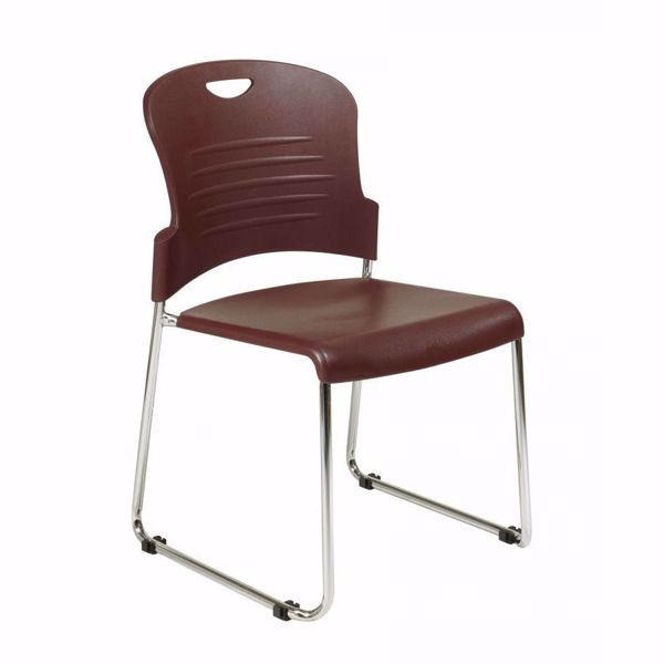 Picture of Burgundy Stack Chair PK *D