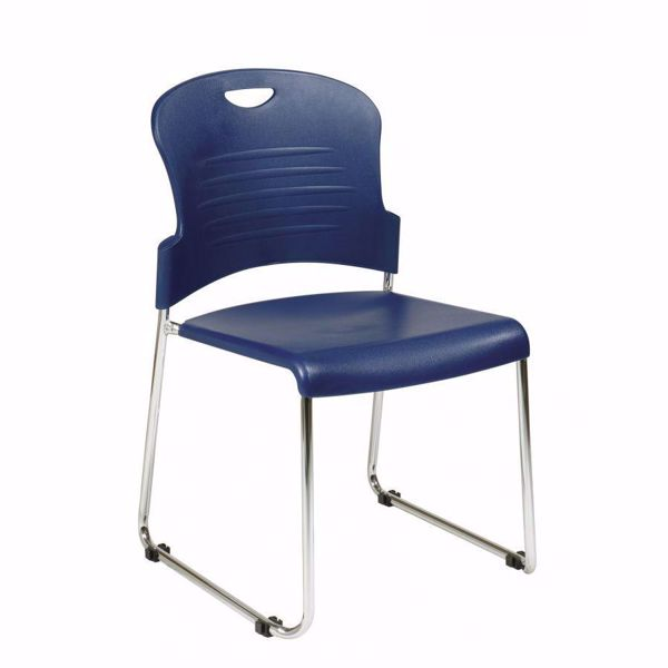 Picture of Navy Stack Chair, 4-Pack *D