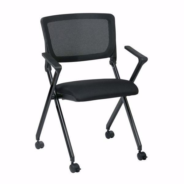 Picture of Breathable Mesh Back Black Seat Fold Chair, 2-Pack *D