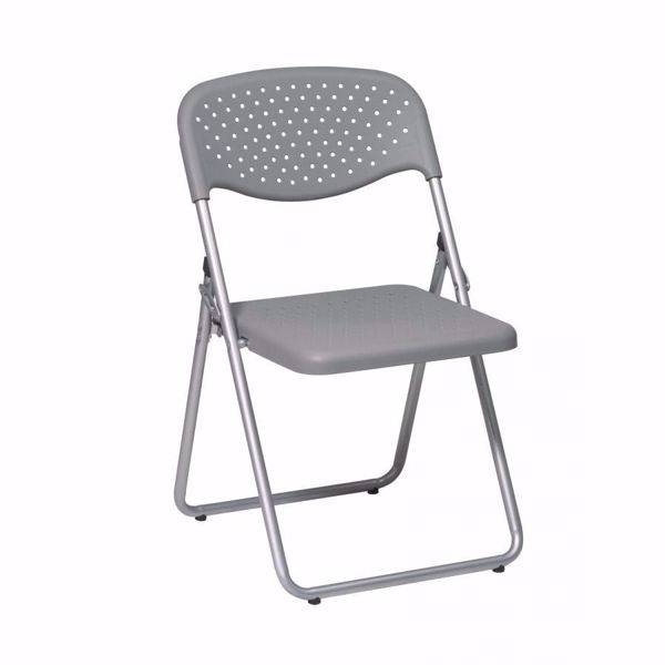 Picture of Grey Plastic Seat and Back Folding Chair, 4-Pack *D