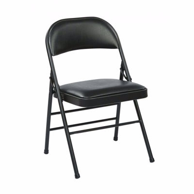 Picture of Black Vinyl Seat and Back Folding Chair, 4-Pack *D