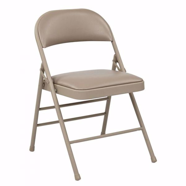 Picture of Tan Vinyl Seat and Back Folding Chair, 4-Pack *D