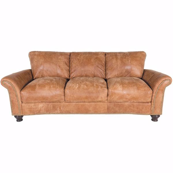 Picture of Brown All Leather Sofa