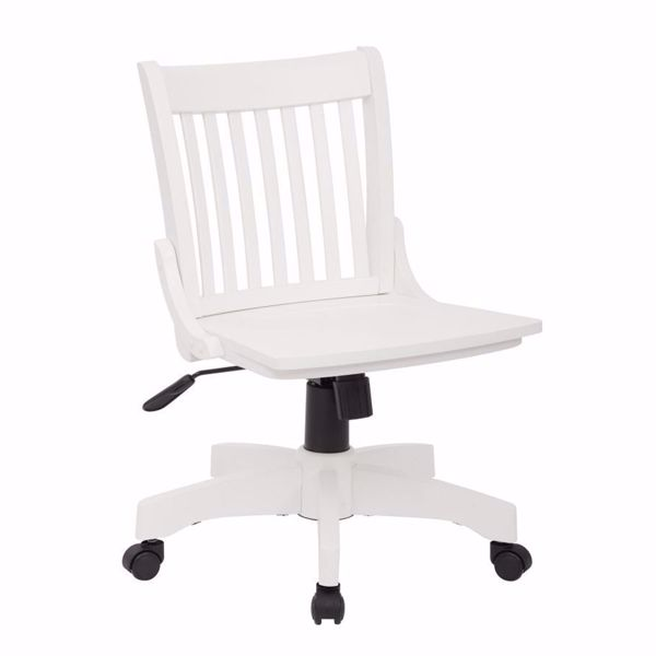 Picture of Armless White Wood Off Chair 101White *D
