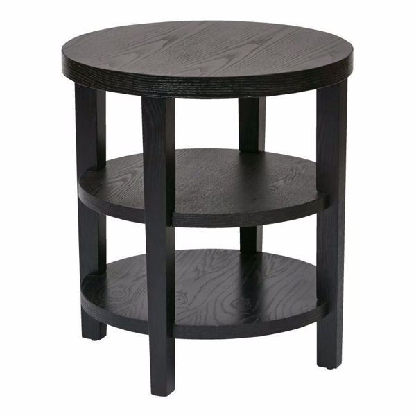 Picture of Black Round End Table *D