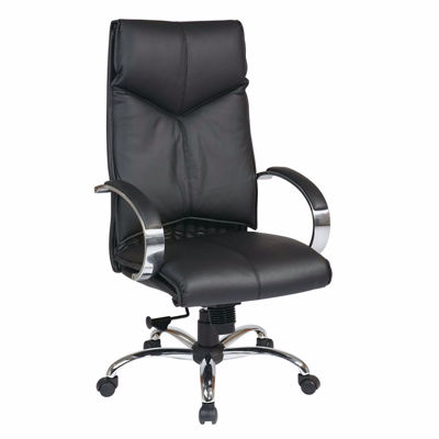 Picture of Black Leather Office Chair 8200 *D