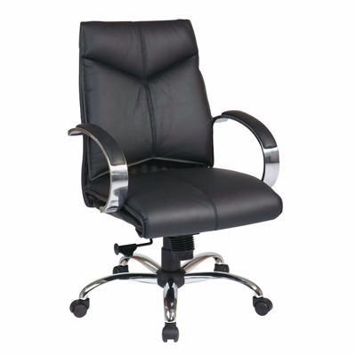 Picture of Black Leather Office Chair 8201 *D
