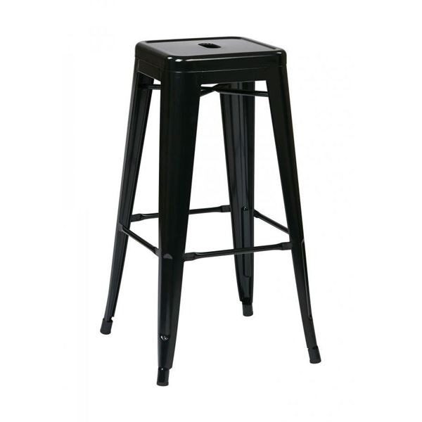 Picture of 30-Inch Mtl Black Backless Stool, 4-Pack *D